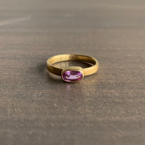 Mallary Marks Oval Pink Sapphire Ring, Size 7