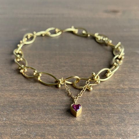 Mallary Marks Bird's Nest Bracelet with Ruby Heart