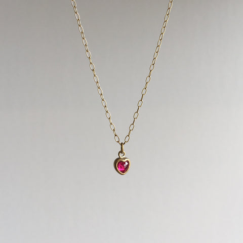Lola Brooks Burmese Ruby Sweetheart Necklace