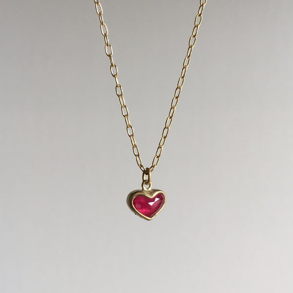 Lola Brooks Large Ruby Sweetheart Necklace
