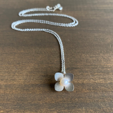 Katie Carder Hydrangea Necklace with Pearl