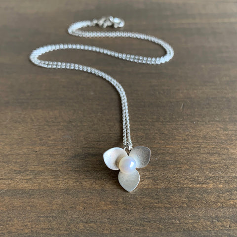 Katie Carder Trillium Necklace with Pearl