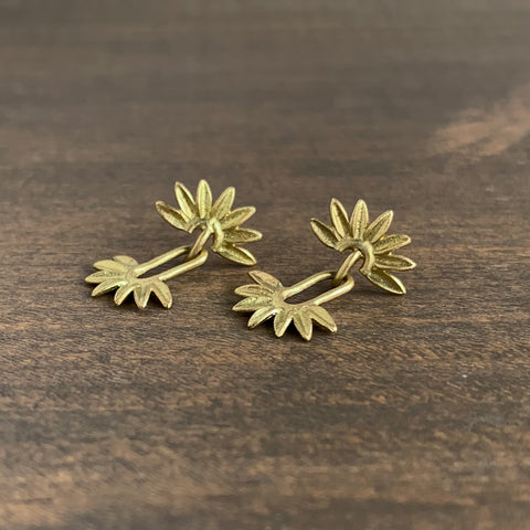 Victoria Walker Sunflower Oval Earrings