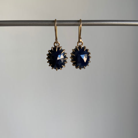 Hannah Blount Midnight Sapphire Vanity Earrings