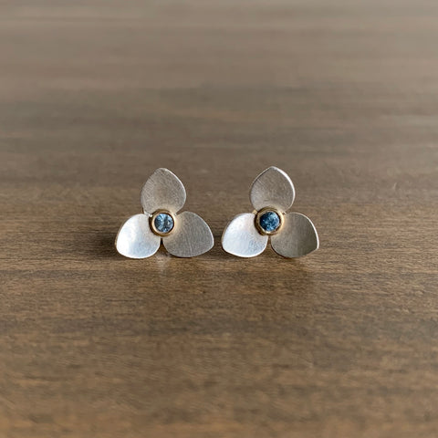Katie Carder Trillium Studs with Sapphires