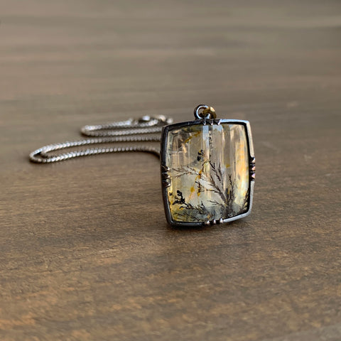 Mimi Favre Dendritic Quartz Rectangle Pendant