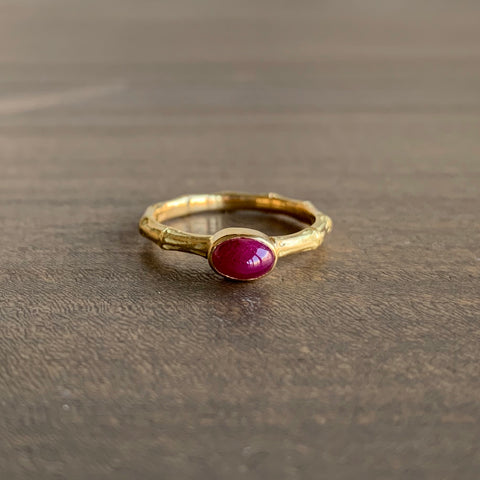 Mimi Favre Ruby Bamboo Ring