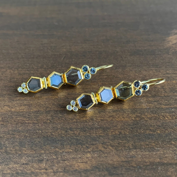 Karin Jacobson Sapphire, Spinel, & Diamond Earrings
