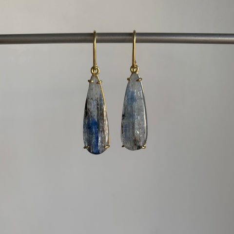 Mimi Favre Long Kyanite Teardrop Earrings