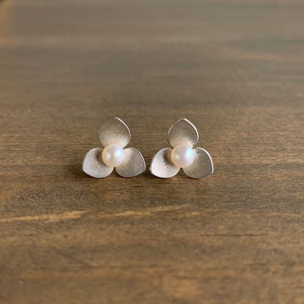 Katie Carder Trillium Studs with Pearls