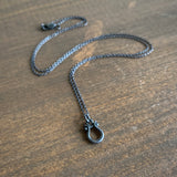 Monika Krol Mini Silver Lyre Necklace