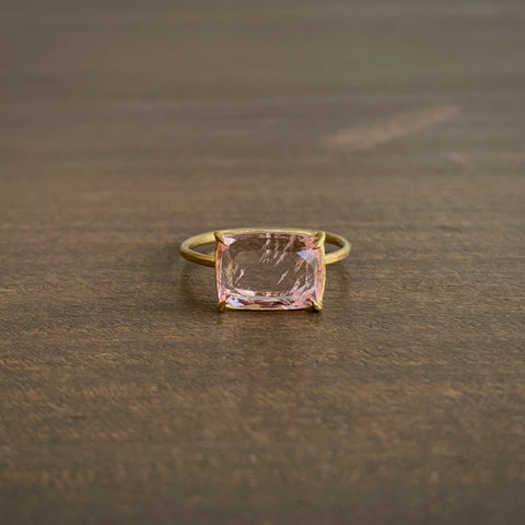 Rosanne Pugliese Prong Set Faceted Morganite Ring