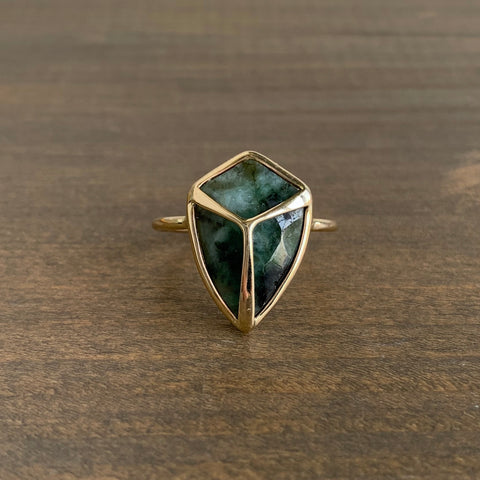 Rachel Atherley Emerald Kite Lucky Scarab Ring