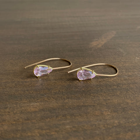 Rosanne Pugliese Faceted Kunzite Teardrop Earrings
