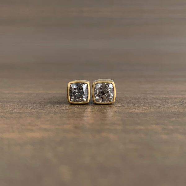 Lola Brooks Square Salt & Pepper Full Cut Diamond Studs