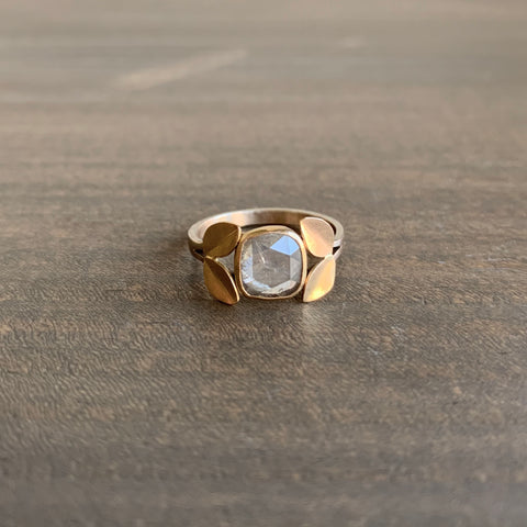 Katie Carder Fern Ring with Rose Cut Diamond