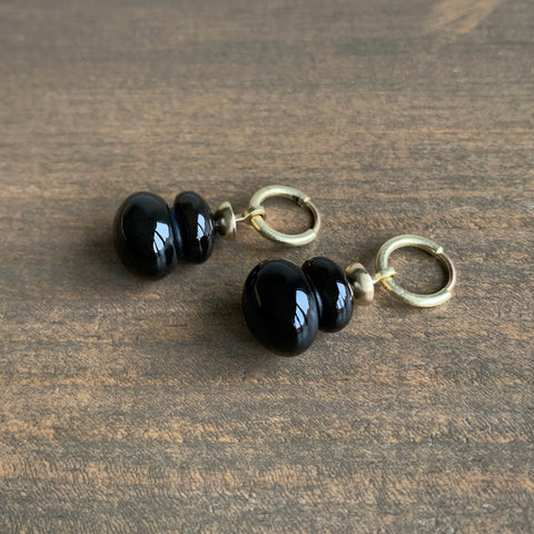 S. Yamane Midnight Montana Agate Ipu Drop Earrings