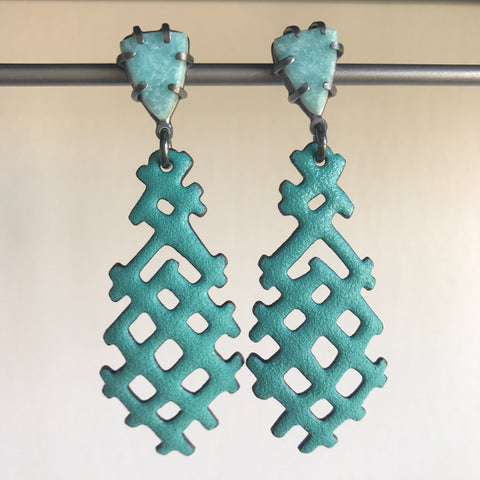 Joanna Nealey Large X Earrings