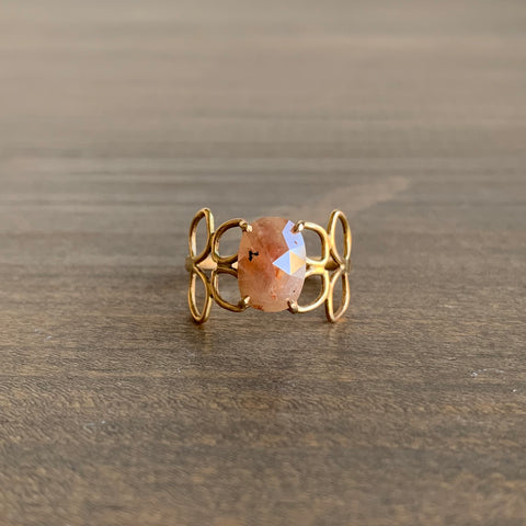 Katie Carder Peachy Diamond Filigree Ring