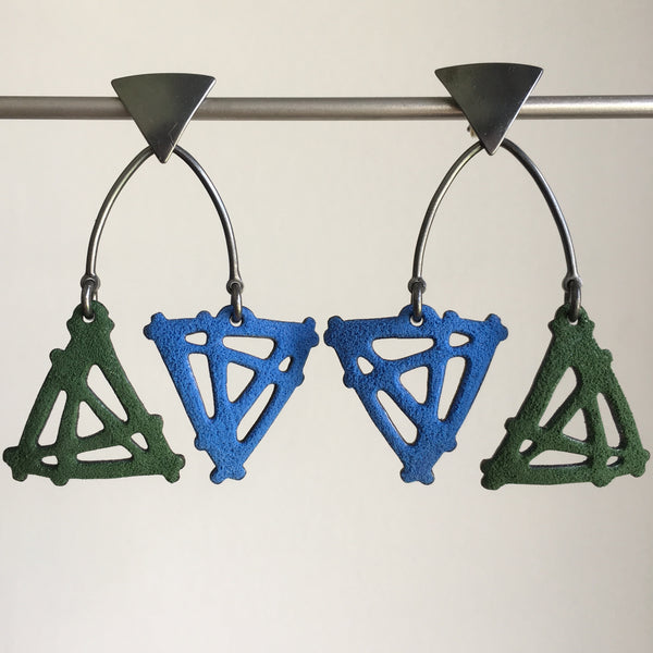 Joanna Nealey Double Triangle Mobile Earrings