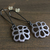 Joanna Nealey Honeycomb Structure Earrings in Dove Grey