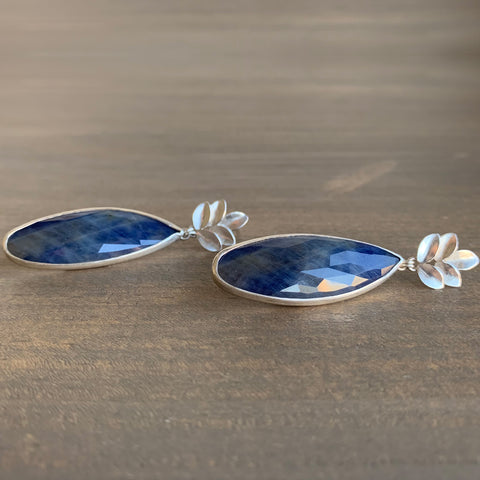 Katie Carder Fern Studs with Sapphire Drops