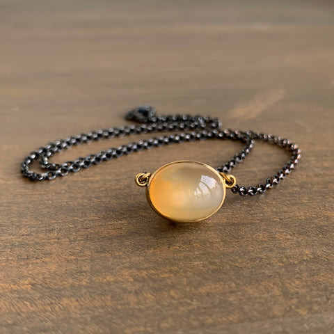 Mimi Favre Honey Peach Ombré Moonstone Pendant