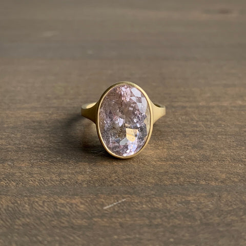 Monika Krol Effervescent Morganite Cast Ring