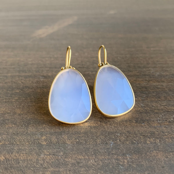 Monika Krol Faceted Chalcedony Drop Earrings