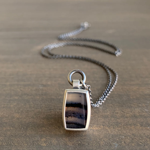 Monika Krol Montana Agate in Sterling Necklace