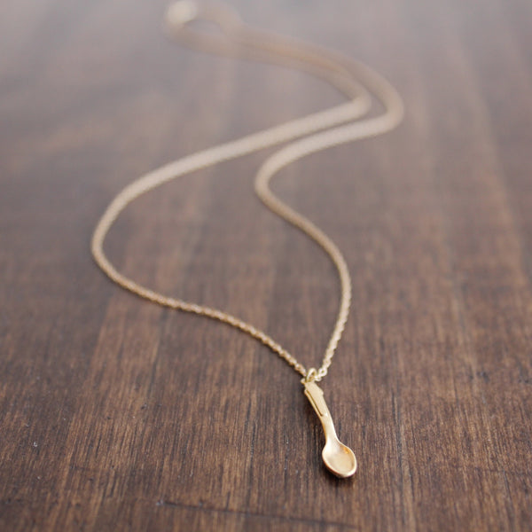 Monika Krol Gold Spoon Pendant