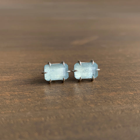 Hannah Blount Aquamarine Prism Vanity Stud Earrings