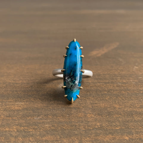 Hannah Blount Undertow Turquoise Vanity Ring