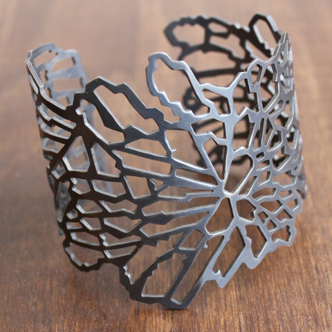 Joanna Nealey Shattered Cuff Bracelet in Oxidized Silver