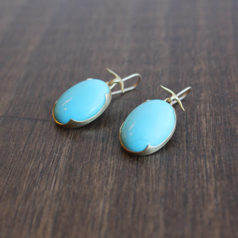 Gabriella Kiss Oval Turquoise Earrings