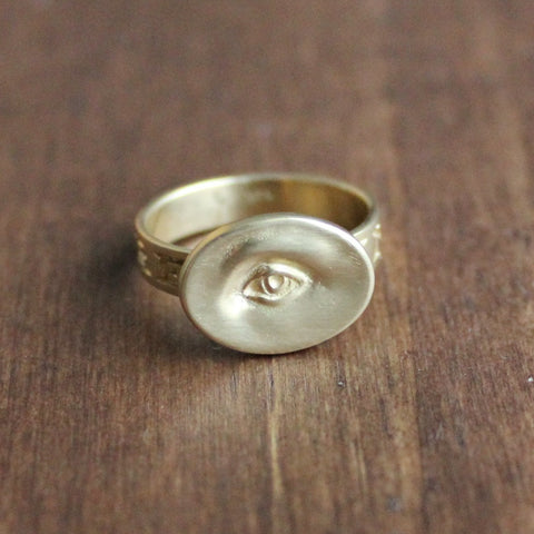 Gabriella Kiss Small Gold Eye Ring