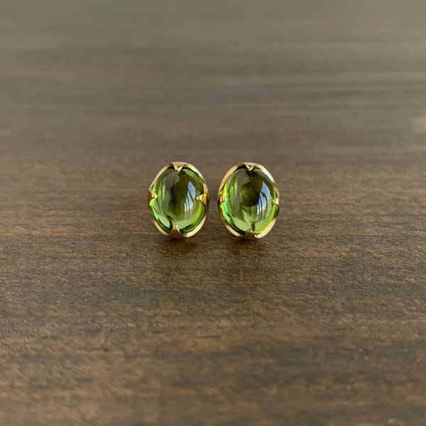 Mimi Favre Peridot Claw Set Stud Earrings