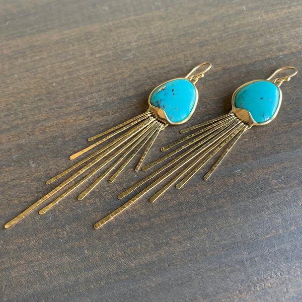 Rachel Atherley Turquoise Jellyfish Earrings