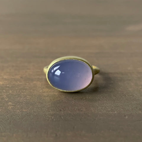 Judi Powers Corazon Chalcedony Cabochon Ring