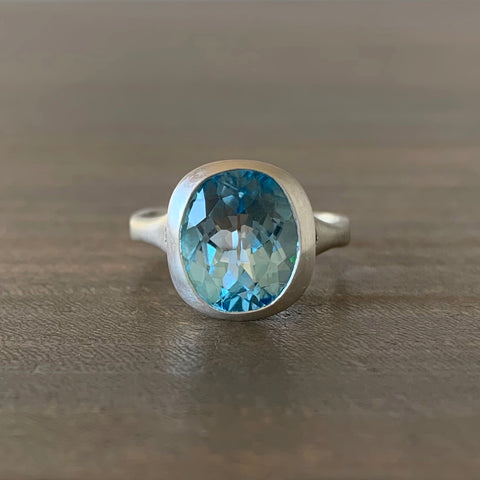 Judi Powers Blue Topaz Amphora Ring