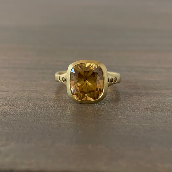 Judi Powers Honey Zircon Amphora Ring