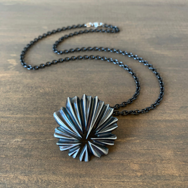 Judi Powers Silver Hibiscus Necklace