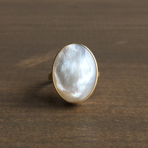 Monika Krol Mother of Pearl Cast Ring