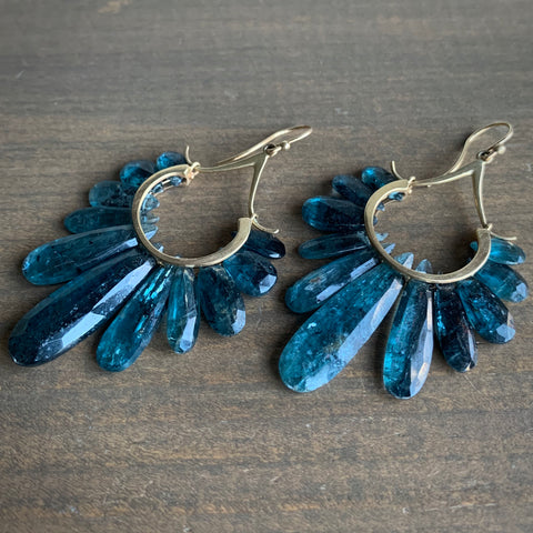 Rachel Atherley Large Kyanite Peacock Earrings