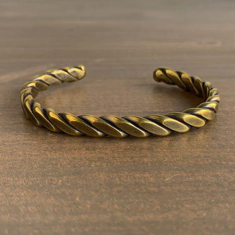 Studebaker Metals Brass Heavyweight Plait Cuff