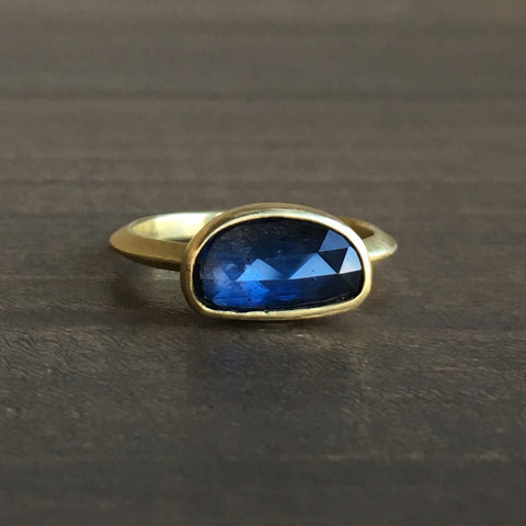 Heather Guidero Faceted Blue Sapphire Ring