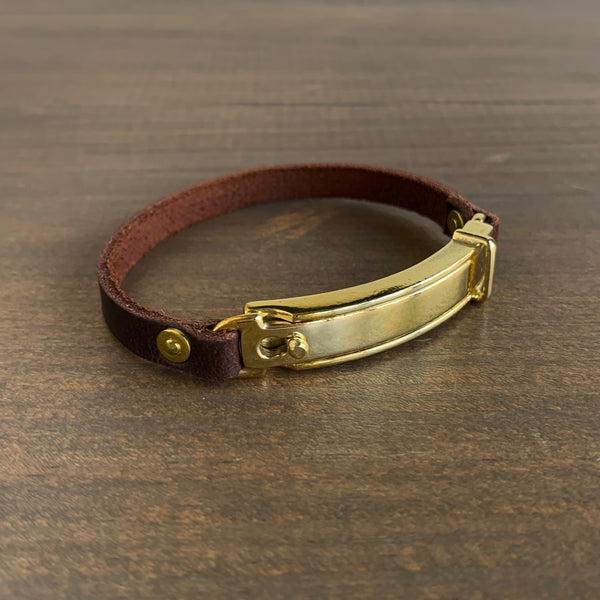 Studebaker Metals Polished Brass Lock Bracelet