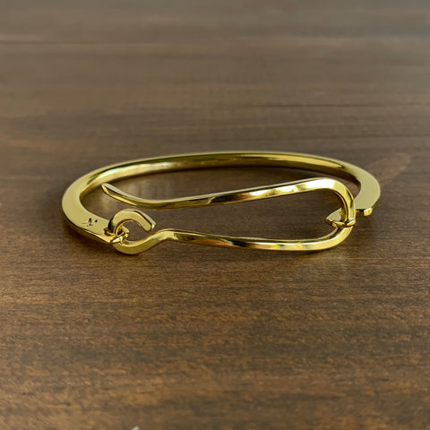 Studebaker Metals Polished Brass Hook Bracelet