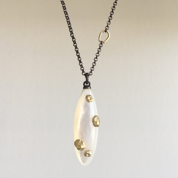 Hannah Blount Large Mother of Pearl Necklace with Barnacles
