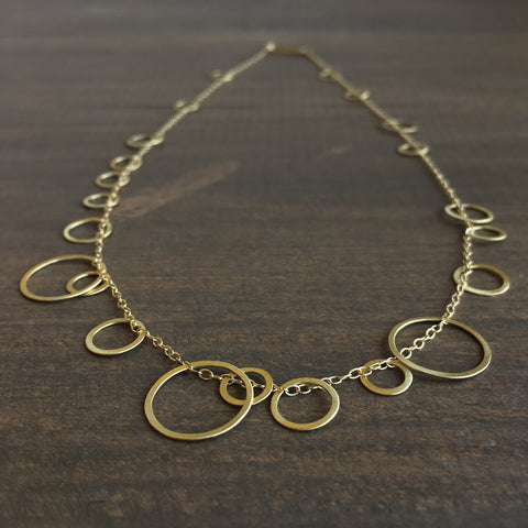 Heather Guidero Gold Circle Bunches Necklace
